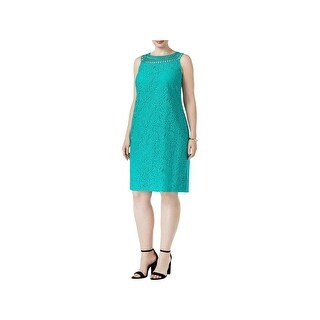 Jessica Howard Womens Plus Wear to Work Dress Lace Sleeveless (2 options available)