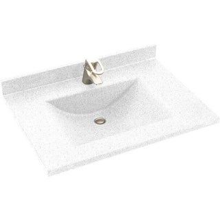"Swanstone CV2225 Contour One Piece Vanity Top and Sink 25"" Wide"