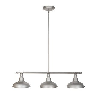 Design House 520379 Kimball 3-Light Dimmable Pendant in Galvanized Finish - N/A
