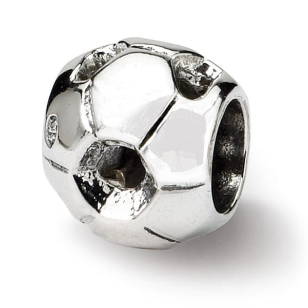 Sterling Silver Reflections Soccer Ball Bead (4mm Diameter Hole)