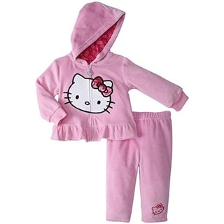 Hello Kitty Pant Outfit Ruffled Hooded