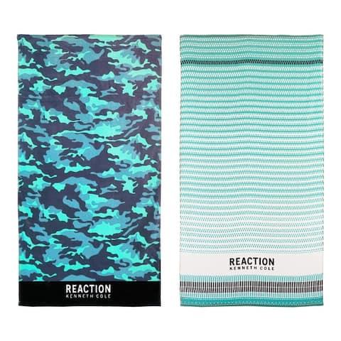 Kenneth Cole Reaction 2 Piece Cotton Beach Towel Set