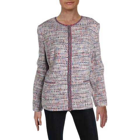 Basler Womens Blazer Tweed Zip-Up - Seabreeze