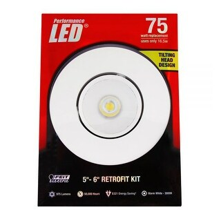 Feit Electric LEDR56ADJ/830 75 Watt Replacement Retrofit Kit, White