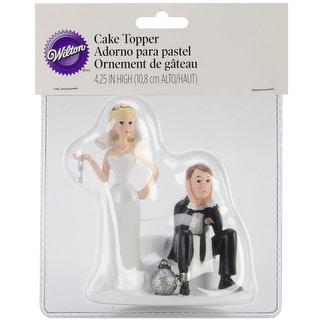 "Cake Topper 4""-Ball & Chain"