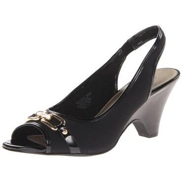 Bandolino Womens Finsbury Fabric Open Toe Casual Slingback Sandals - 10.5