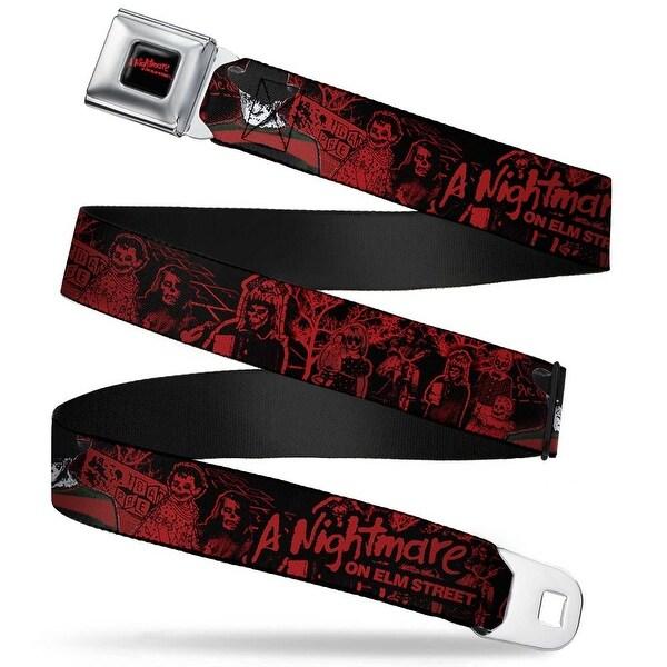 A Nightmare On Elm Street Full Color Black Blood Splatter Reds A Nightmare Seatbelt Belt