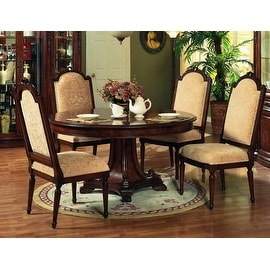 """Manchester 60"""" Round Dining Table - Burgundy"""