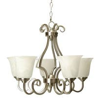 Craftmade 7124 Builders Single Tier 5 Light Mini Chandelier - 24 Inches Wide