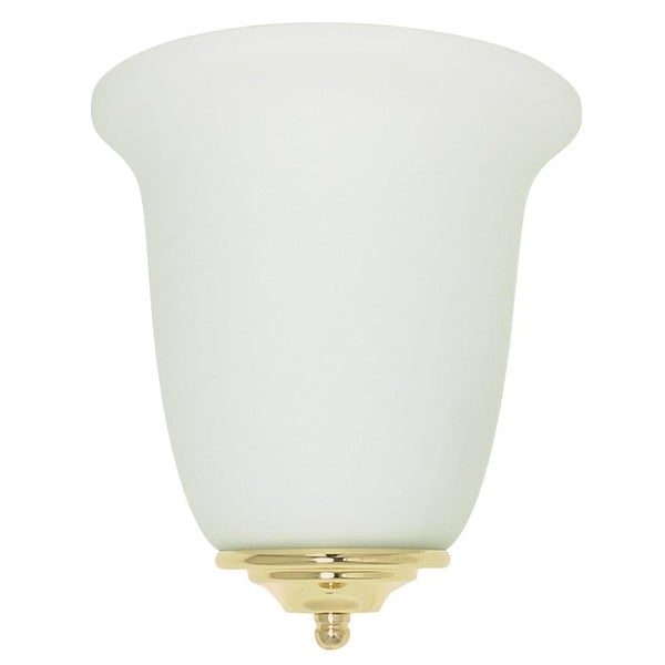 Sunset Lighting F9001 1-Light Fluorescent Energy Star ADA and CA Title 24 Compliant Wall Washer Sconce - Polished brass