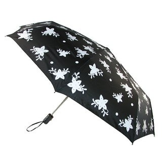 CTM® Women's Auto Open and Close Color Changing Star Print Compact Umbrella