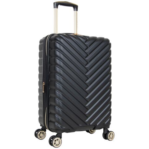 """Kenneth Cole Reaction 'Madison Square' 20"""" Chevron Hardside Expandable 8-Wheel Spinner Carry On Suitcase - Multiple Colors"""