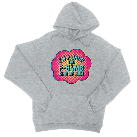 F-Bomb Mom Unisex Grey Hoodie Funny Mother's Day Gifts For Mom