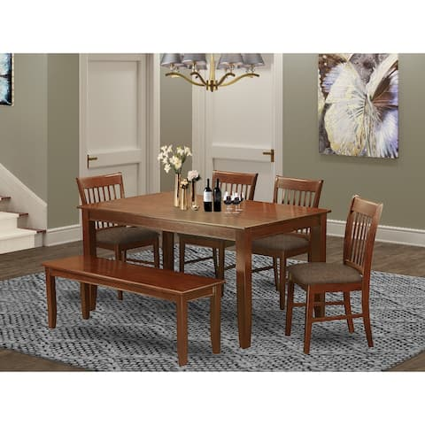 6-piece Kitchen Set - Dining Table, 4 Chairs and Bench (Chairs Option)