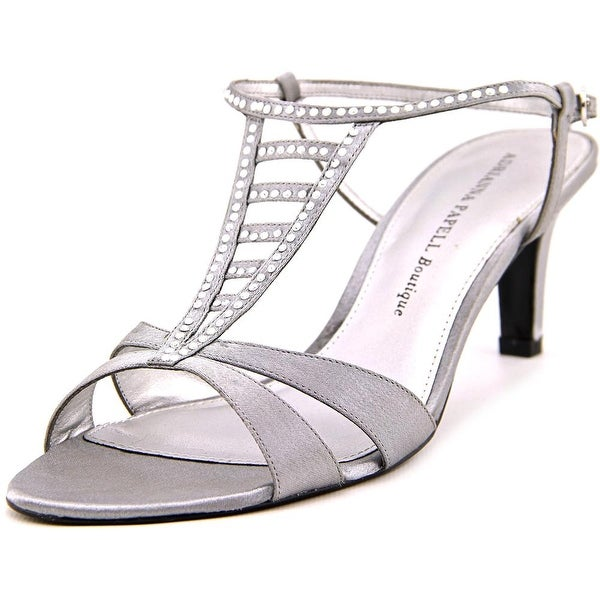 Adrianna Papell Amber Women Open Toe Synthetic Silver Sandals