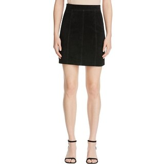 Bardot Womens A-Line Skirt Suede Leather