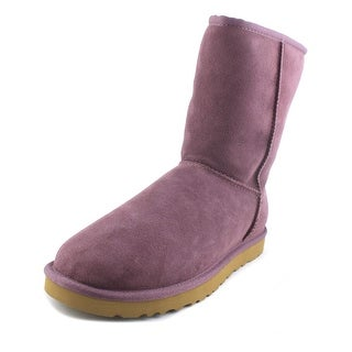 Ugg Australia Classic Short  Women  Round Toe Suede Purple Winter Boot