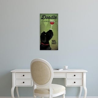 Easy Art Prints Ryan Fowler's 'Doodle Wine II Black Dog' Premium Canvas Art