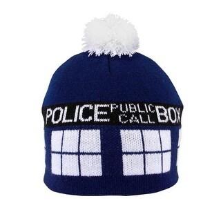 Doctor Who Tardis Pom Style Beanie - Blue
