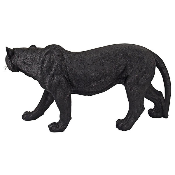 STALKING AFRICAN BLACK PANTHER OUTDOOR STATUE Jungle Predator Sculpture Yard Art