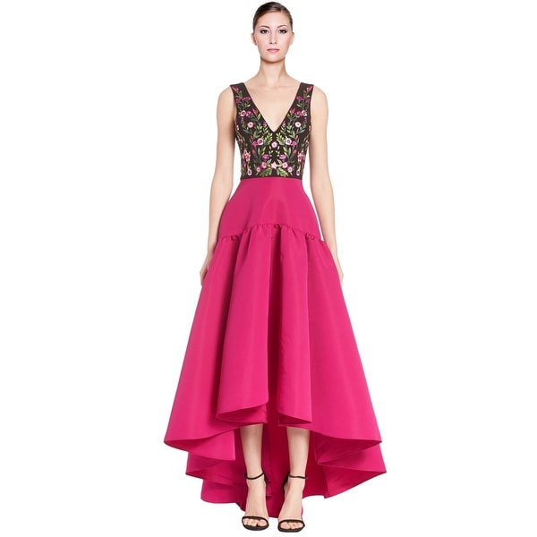 Shop Marchesa Notte Floral High-Low Skirt Evening Gown Dress - 4 ...