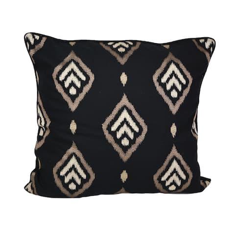 Donna Sharp Lexington Black Emblem Decorative Pillow