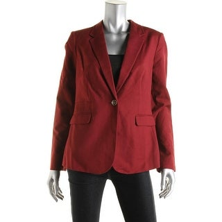 Vince Camuto Womens Notch Collar Lined One-Button Blazer