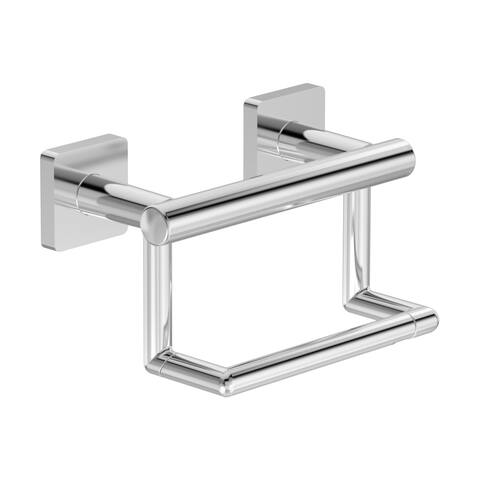 Symmons 363GBTP Duro Wall Mounted Pivoting Toilet Paper Holder with Assist Bar