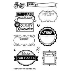 """Made By Me - Hot Off The Press Acrylic Stamps 3""""X5"""" Sheet"""