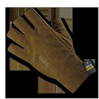Polar Fleece Half Finger Gloves, Coyote - Extra Large