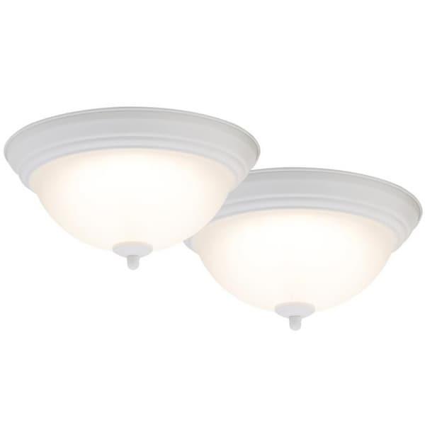 Boston Harbor 4200 Led Wh Flush Mount Ceiling Light Fixture 15 Watts
