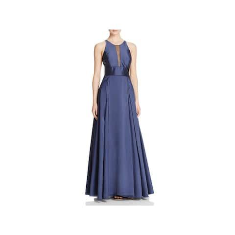 7bcc34aa22f Aidan Mattox Womens Formal Dress Sleeveless Illusion