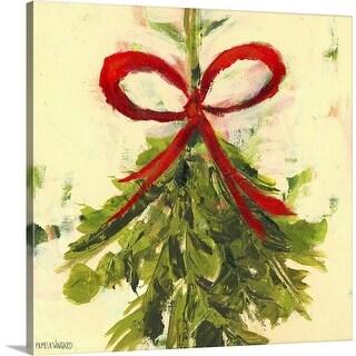 """Mistletoe"" Canvas Wall Art"
