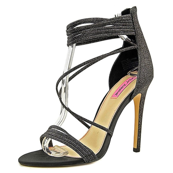 Betsey Johnson Kora Women Blk Glt Sandals
