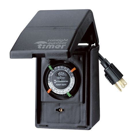 Intermatic HB11K Portable Outdoor Timer, 15 Amp