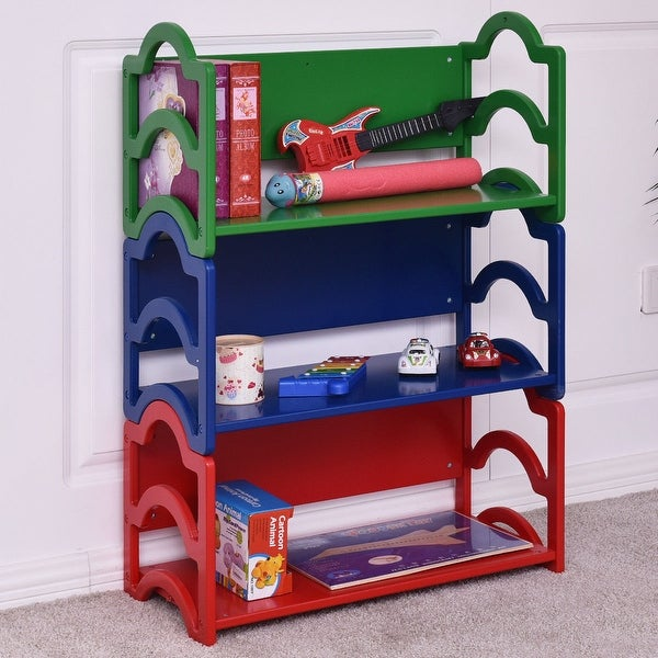 Awesome Gymax Kids Book Shelf Storage Rack Organizer Bookcase Display Holder Home  Furniture