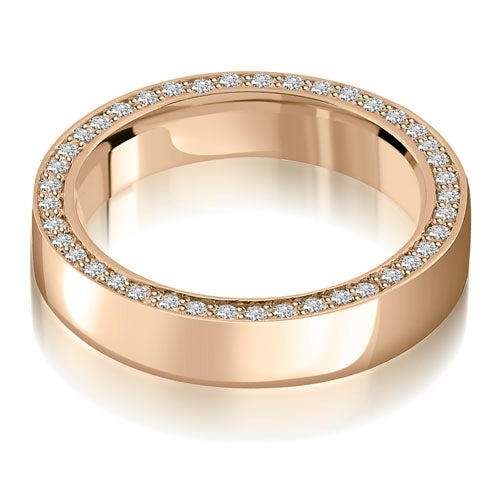 0.72 cttw. 14K Rose Gold Elegant Round Cut Diamond Eternity Band Ring