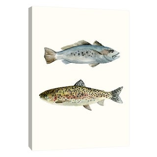 """PTM Images 9-108715  PTM Canvas Collection 10"""" x 8"""" - """"Fish Grouping 1"""" Giclee Fishes Art Print on Canvas"""