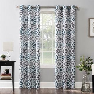 Link to No. 918 Hana Ikat Geometric Semi-Sheer Grommet Curtain Panel Similar Items in Window Treatments