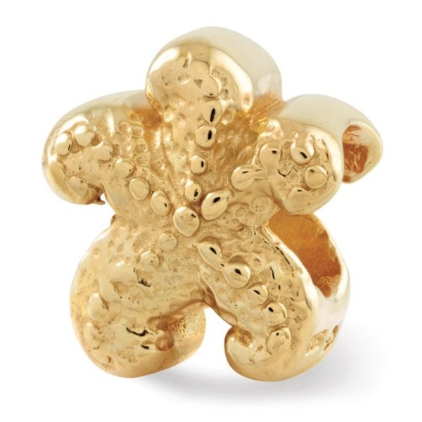 Sterling Silver Reflections Gold-plated Starfish Bead (4mm Diameter Hole)