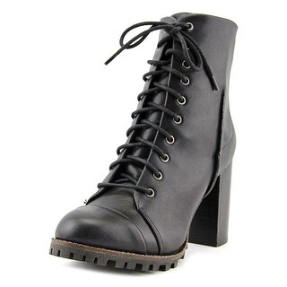 Report Alanna Women  Round Toe Leather Black Ankle Boot