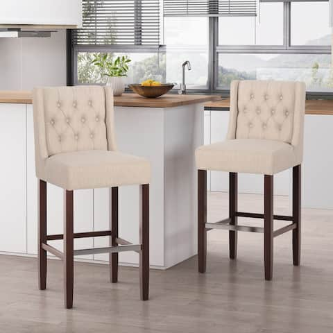 Bayliss Tufted Wingback Barstool (Set of 2) by Christopher Knight Home