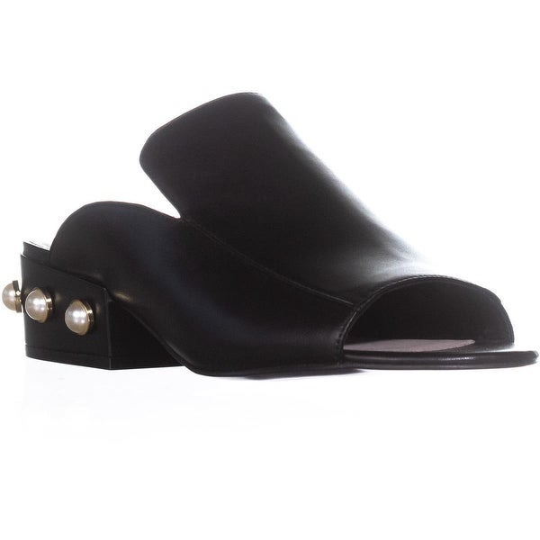 Kenneth Cole New York Farley Pearl Open Toe Slide Sandals, Black