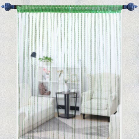 "String Curtain Fringe Panel 39"" x 79""(W*H) Thread Bedroom Door Window Divider - 39"" x 79"""