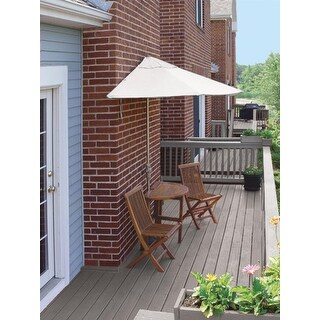 5-Piece Terrace Mates Premium Outdoor Furniture Patio Set 9' - Natural Olefin