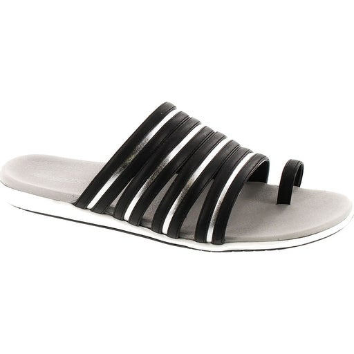 Aerosoles Women's Watchtower Toe Ring Sandal - Black/Silver