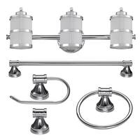 "Globe Electric 51285 Kennewick 3 Light 22-1/2"" Wide Bathroom Vanity Light Packag"