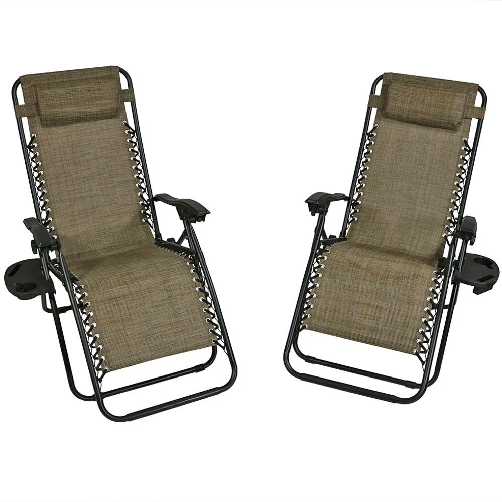 Sunnydaze Zero Gravity Lounge Chair with Pillow and Cup Holder, Multiple Colors Available - Thumbnail 10