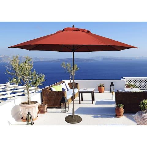 Tropishade 11' Aluminum patio umbrella with Brick Red Olefin Cover