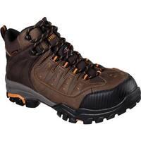 Skechers Men's Work Delleker Lakehead Steel Toe Boot Brown/Orange